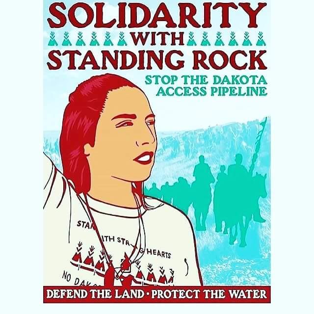Sámiid Riikkabellodat stöder Standing Rock Sioux Tribe