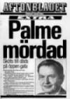 Mordet på Sveriges statsminister Olof Palme – ett nationellt trauma