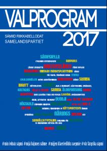 Sámiid Riikkabellodats valprogram 2017